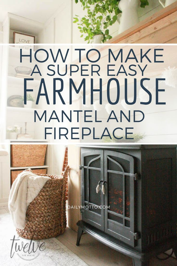 Diy faux fireplace and mantel pinterest