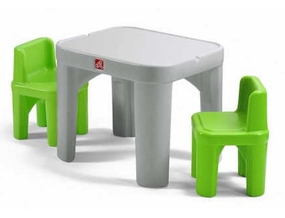 Step2 Mighty My Size Kids 3 Piece Table Chairs Set Table