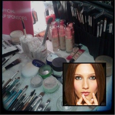 Backstage with Bourjois at Zoe Jordan SS14!