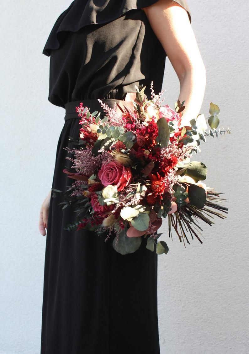 Real Flower Wedding Bouquet And Buttonhole Preserved Flowers