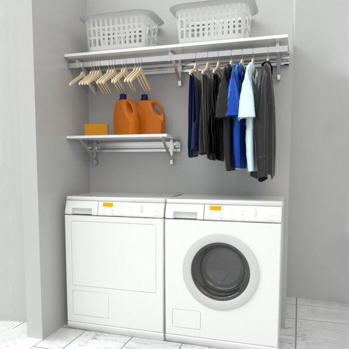 Arrange A Space Heavy Duty Laundry Room Organizer Laundry Room Storage Shelves Laundry Room Design Small Laundry Room Organization