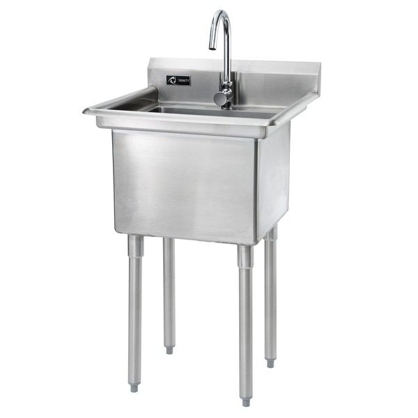 Trinity Stainless Steel Single Basin Utility Sink