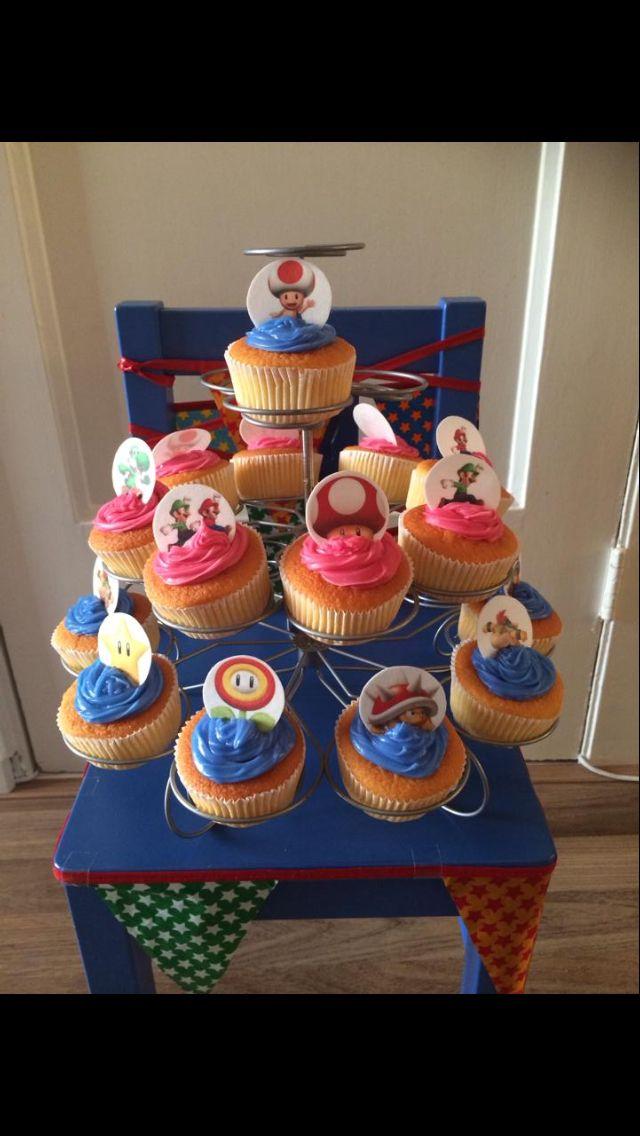 Vincents Mario-cupcakes!