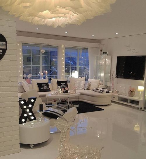 White out classy living room more