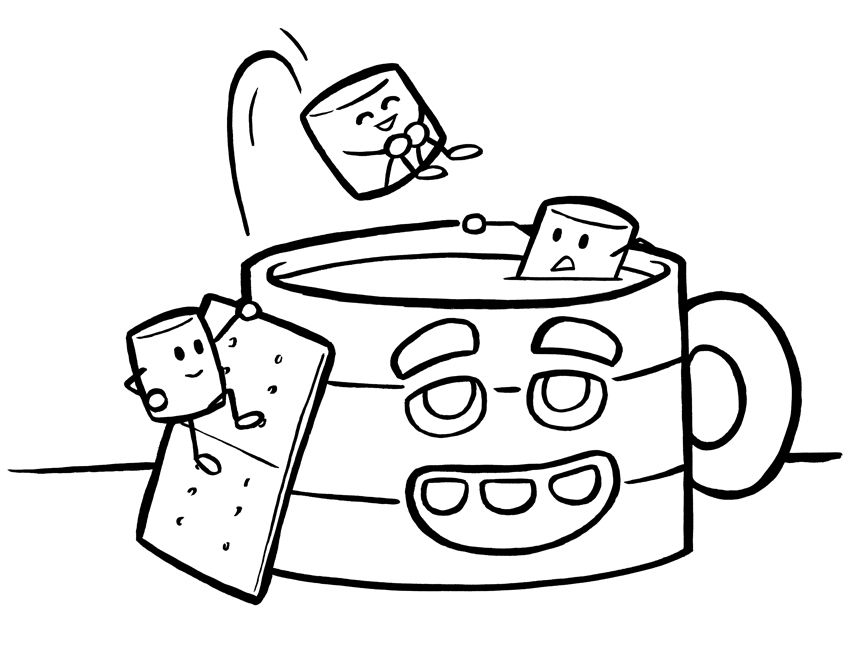 coffee mug coloring page coloring pages blog - Holiday Pictures To Colour