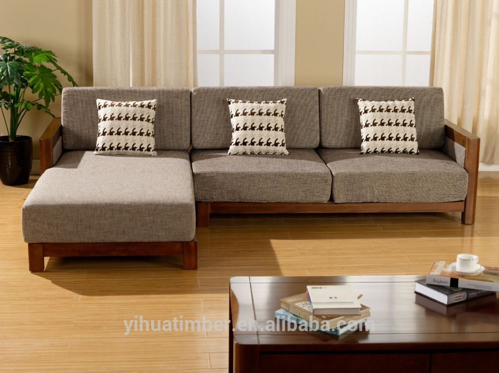 Sofa Exquisite Wood Design Modern Wooden Solid Image