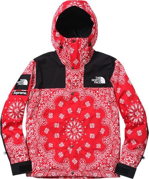 Supreme X North Face Red Bandana Jacket Flawless Quality