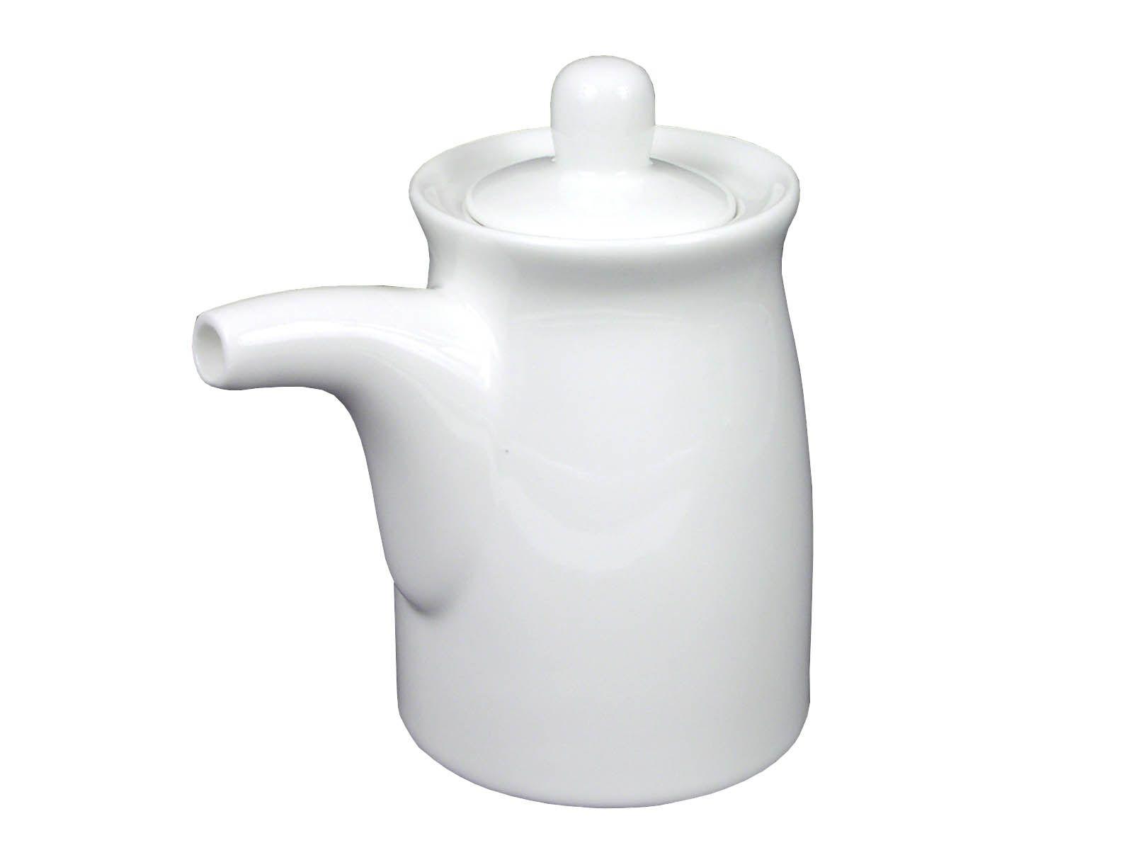 Simply White Sauce Dispenser White Ceramics Condiment Sets Ceramics