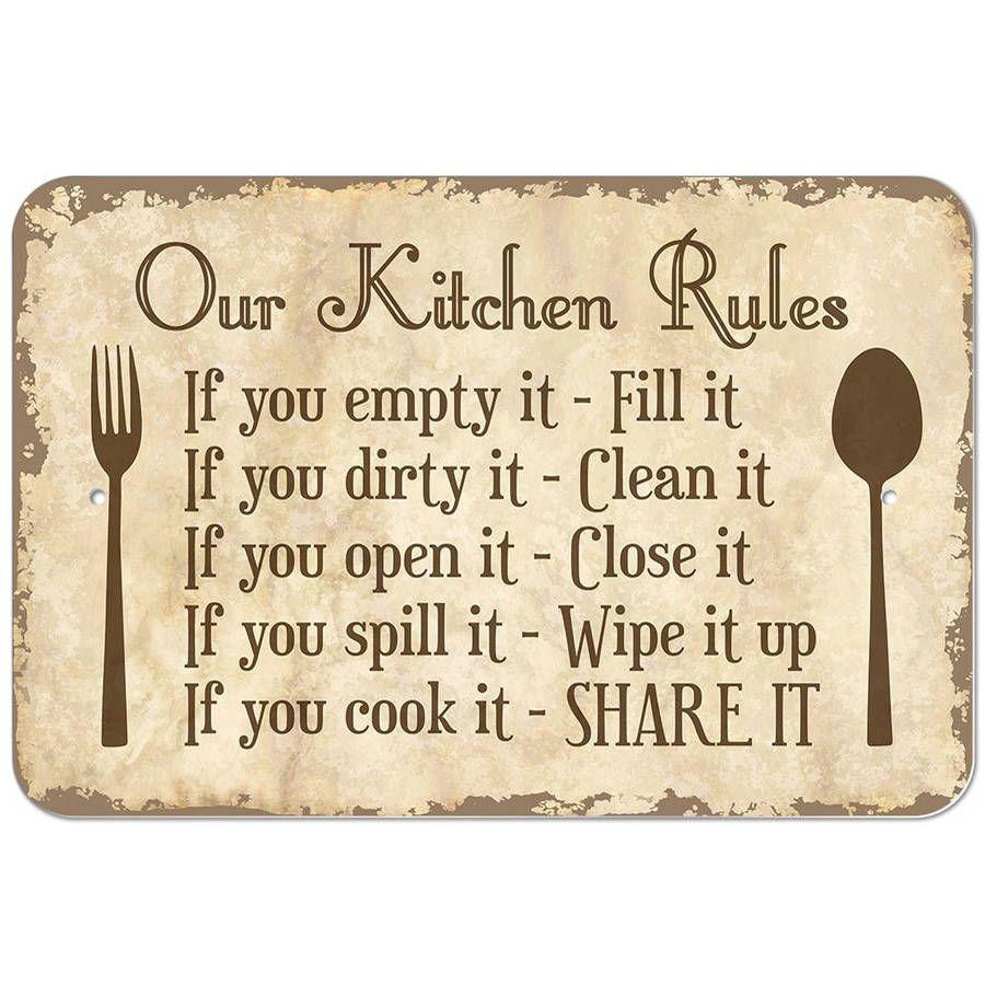 Our Kitchen Rules Sign Walmart Com Kitchen Rules Sign Kitchen Rules Kitchen Humor