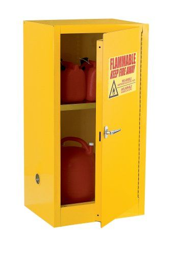 Edsal Sc12f 23inch Wide By 18inch Deep By 35inch High 12gallon Oneshelf Flammable Liquid Safety Cabinet Yellow R Storage Cabinets Door Storage Steel Cabinet