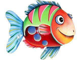 dibujos de peces para imprimir   Pinteres