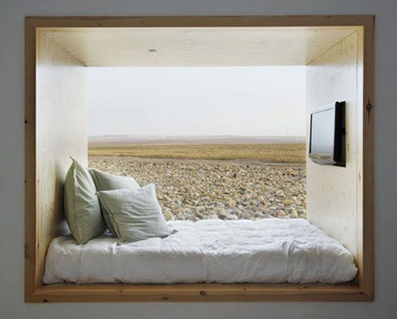Comfortable Framed And Hidden Bedroom Design | Bhouse
