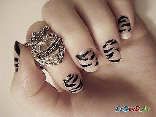 Gozəl Manikurlər Leopard Print Nails Animal Print Nails Nails
