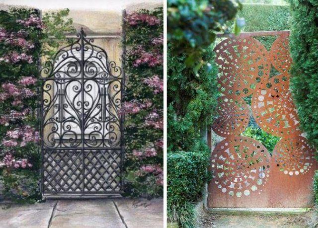 Portas Para O Jardim De Metal Ornamentado. Http://Deavita.Fr
