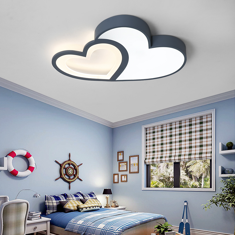 Creative Warm Heart Shaped Children S Room Led Ceiling Lamp Simple Eye Protection Kids Light In 2020 Ceiling Design Bedroom Led Ceiling Lamp Bedroom False Ceiling Design