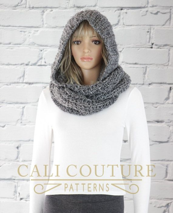 Vancouver Hooded Scarf Pattern #31 - Crochet Hooded Infinity Scarf ...