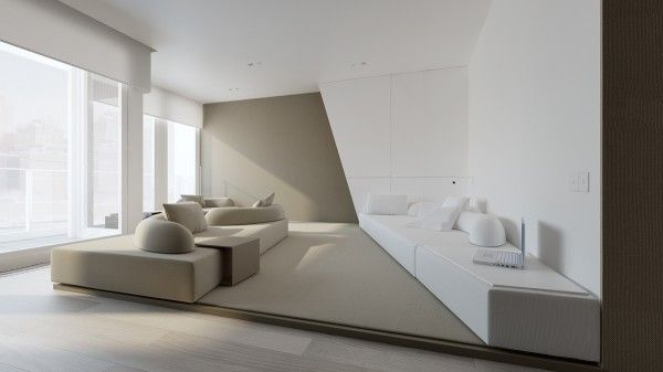 Stark sharp minimalistic interiors by oporski architektura a spacious place in warsaw with