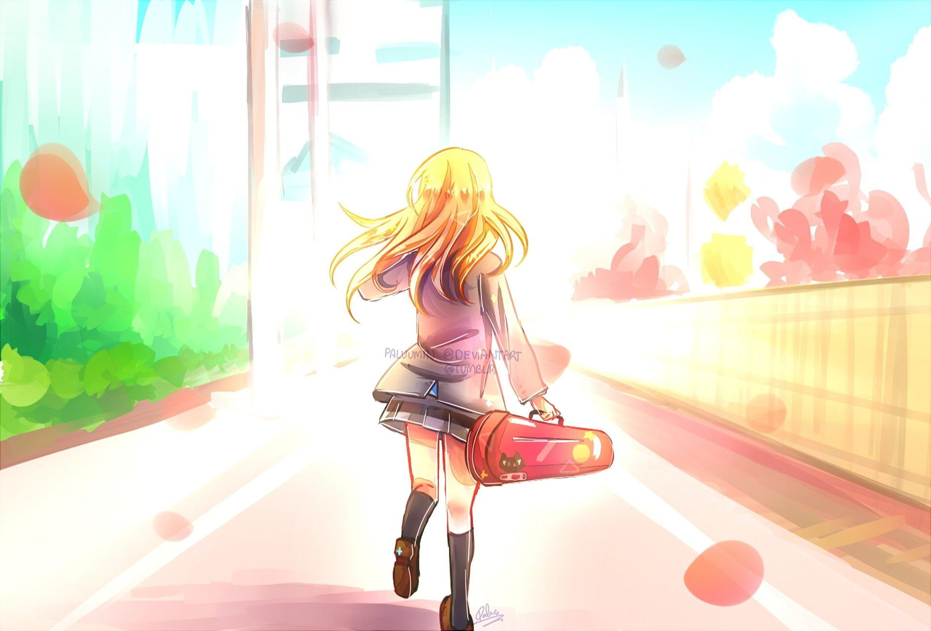 Anime Your Lie In April Kaori Miyazono 1080p Wallpaper