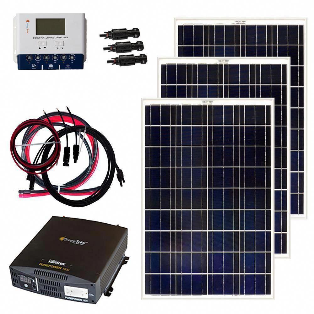Grape Solar 300 Watt Off Grid Solar Panel Kit Gs 300 Kit Sistema De Paneles Solares Calefaccion Solar Sistema De Energia Solar