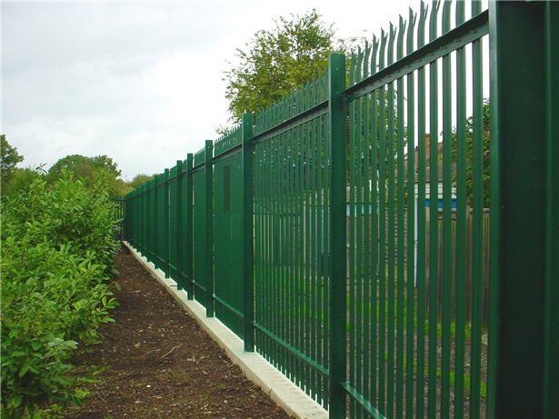 Metal Palisade Fencing Google Search Fence Design Modern Fence Design Steel Fence