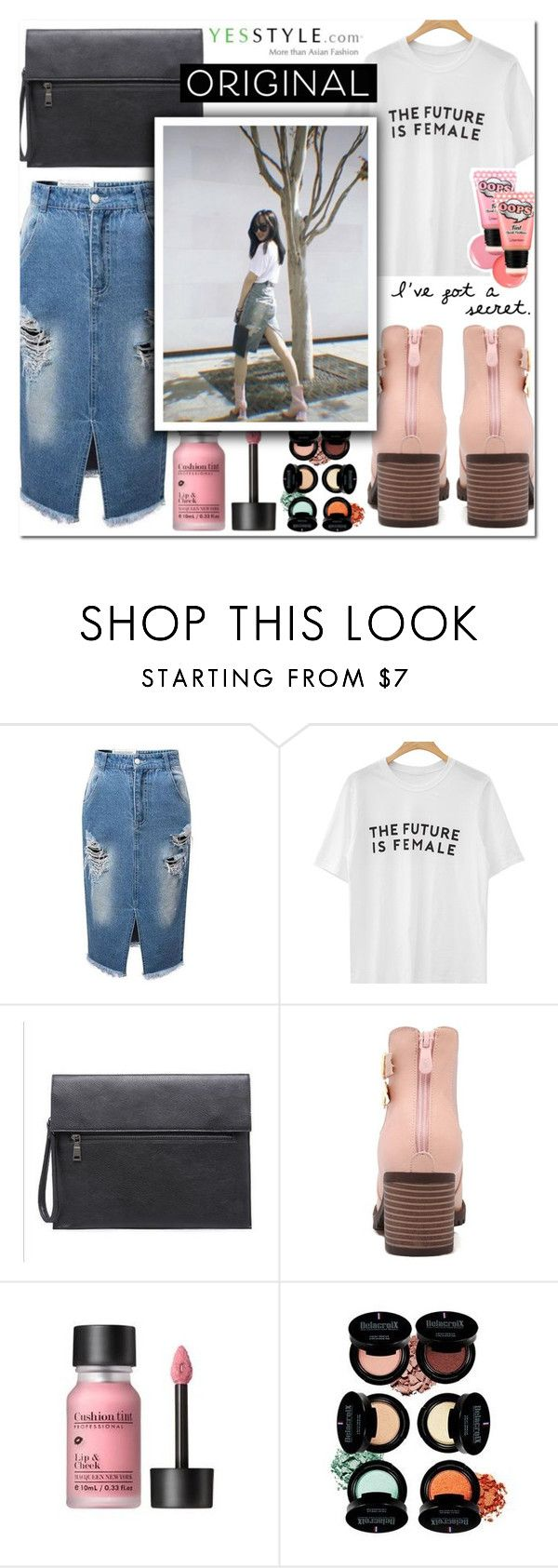 """K-Pop Inspired Outfit / YesStyle"" by enola-pycroft ❤ liked on Polyvore"