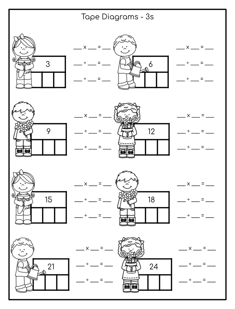 FREE Multiplication and Division Math Facts Worksheets