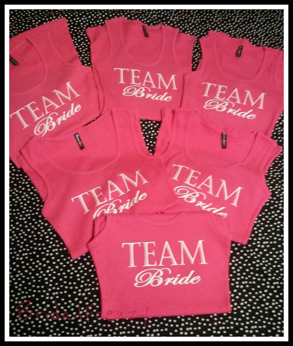 Team Bride Tank Top Perfect for any Brides Bachelorette Party