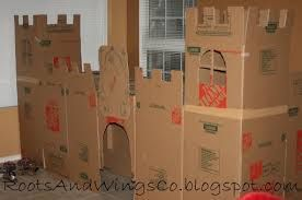 fun Castle playhouse for kids! Tape, markers, and scissors!