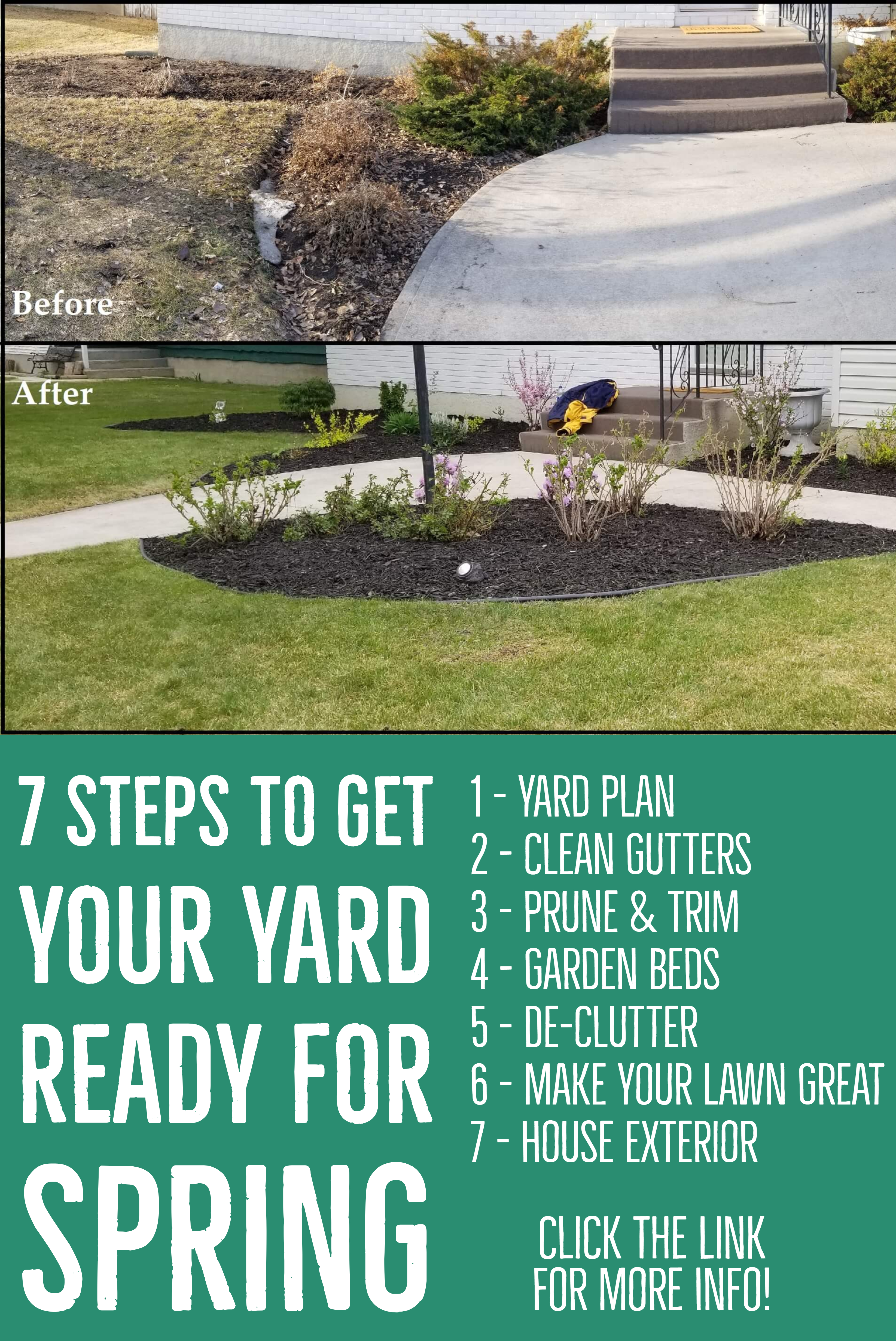 7 Steps To Get Your Yard Ready For Spring Yard Landscaping Yard