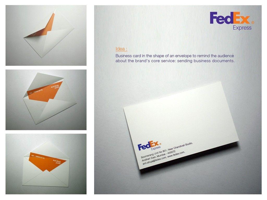 FedEx: Envelope Business Card | Design. | Pinterest | Business ...