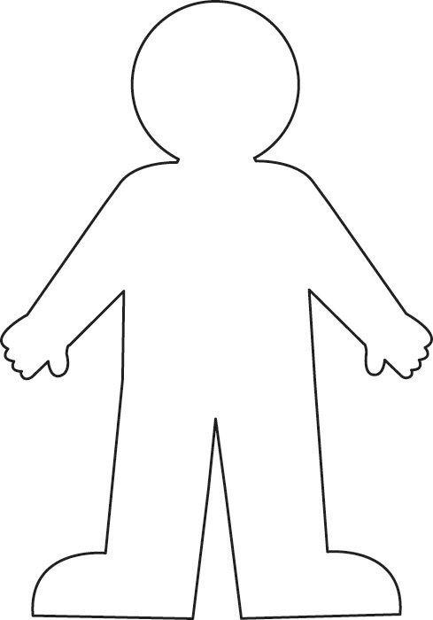 silueta del cuerpo humano niño