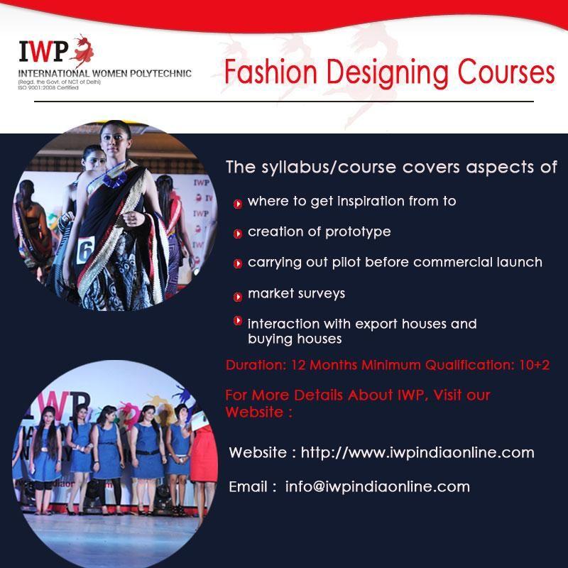 Iwp India On Fashion Designing Course Fashion Design India Online