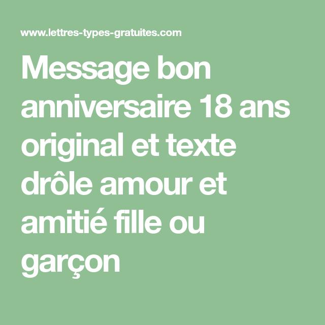 Message Anniversaire 18 Ans