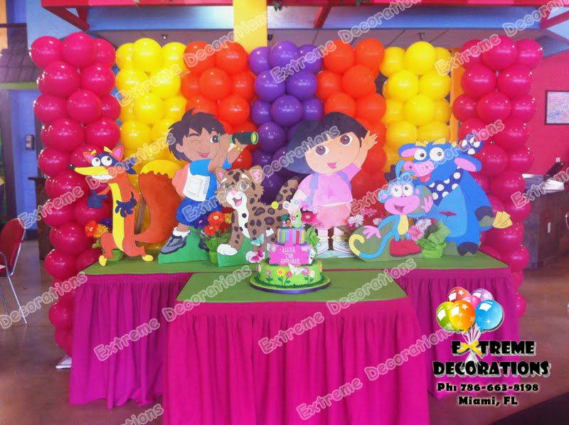 Dora birthday party on pinterest dora the explorer dora for Balloon decoration for kids party