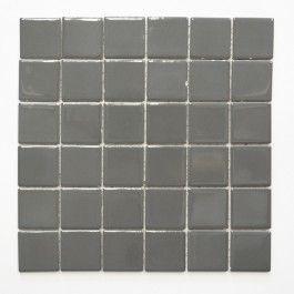 Photo of Mosaikk Uni blank metallgrå 29,8 x 29,8 cm – Fliser – FLIESEN WELSCHEIT – Varemerker