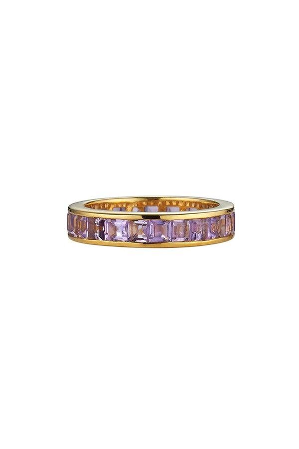 Asha by Ashley McCormick Diamond Band Ring Silver TI10CapoFW