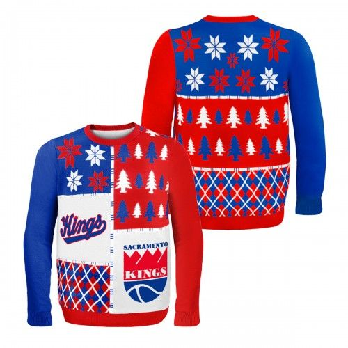 finest selection c4b76 b8234 Sacramento #Kings Busy Block Retro Ugly #Christmas Sweater ...
