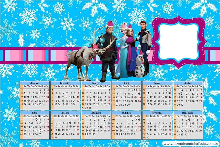 Frozen Snowflake Disney Themed Frozen Printable Calendar 2015