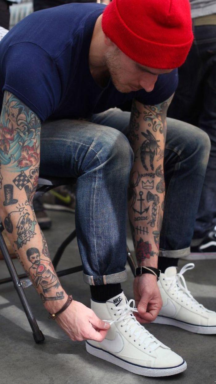 tatouage rockabilly tatouage d tatouage aigle signification homme manche top mens tattoos. Black Bedroom Furniture Sets. Home Design Ideas