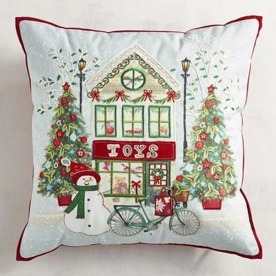 Embroidered Toy Store Pillow Pier 1 Imports Christmas ideas