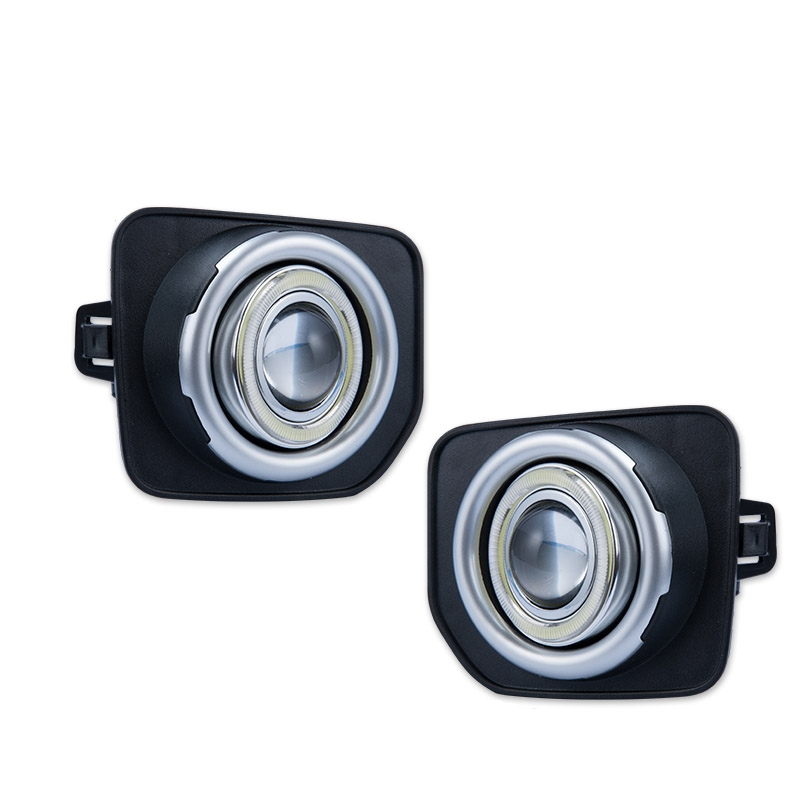 123.49$  Buy here - http://alisio.worldwells.pw/go.php?t=32782426540 - Super COB Fog Light Angel Eye Bumper Projector Lens for  Land Rover Discovery 4 2014-2016 123.49$