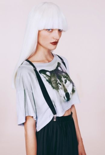 We're hungry like the wolf for Wildfox's Wolf CROP TEE. It won't need to be full for you to howl at the moon in this bad boy.