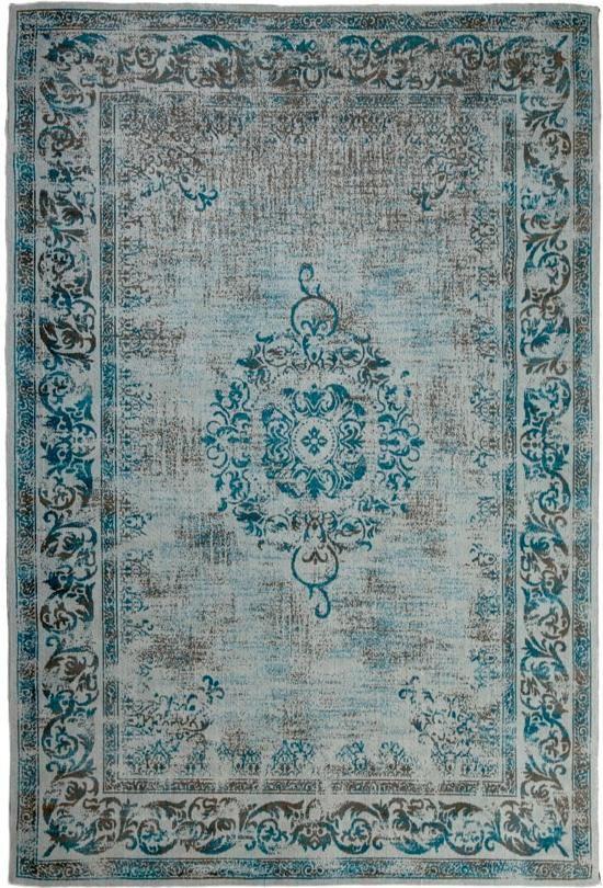 7b6ba1938813f6 Brinker Carpets Vintage Vloerkleed Dae - Azur Blue 70 x 140 cm