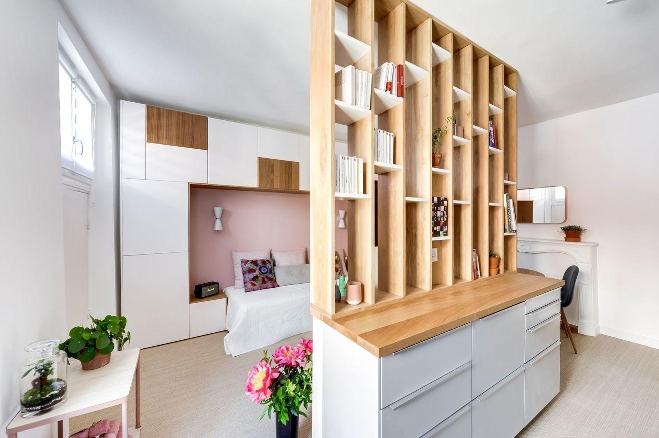 Architecte Interieur Paris Petite Surface meuble multifonction, 2 en 1 pour gagner de la place dans