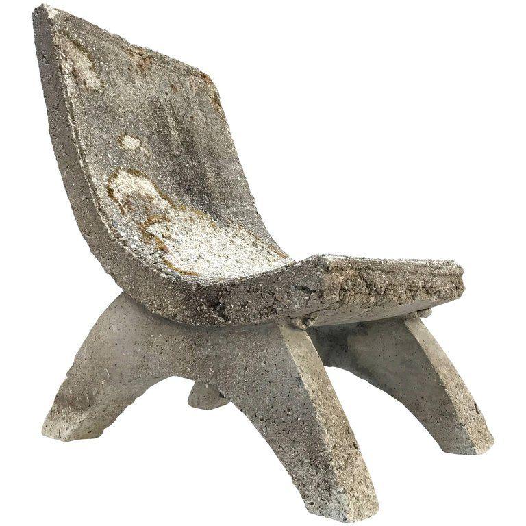 Cast Concrete Garden Chair 1stdibs Com Garden Chairs Concrete