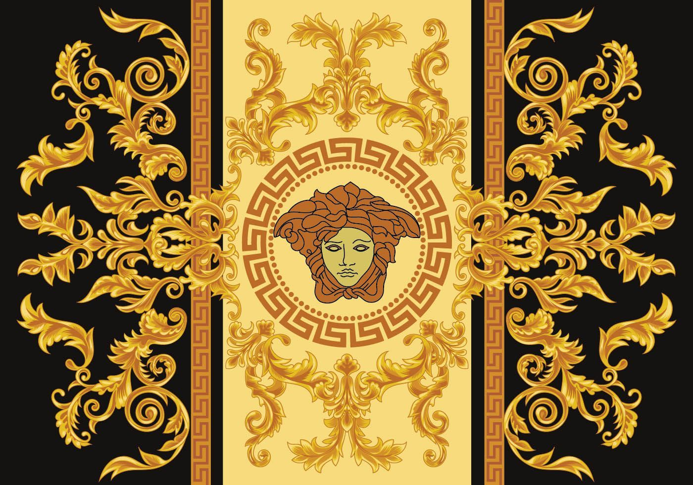 Meander ornament comes from Turkey Vector art, Versace