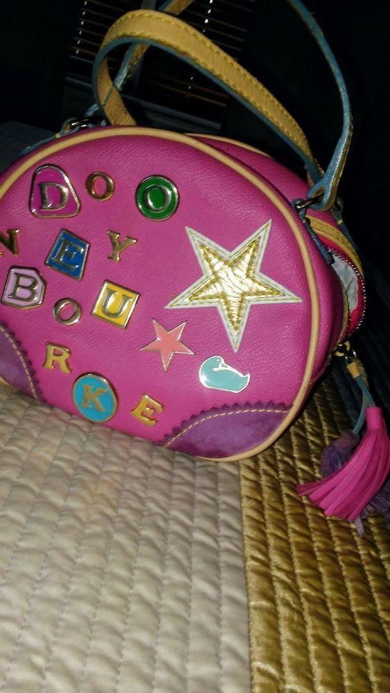4715be8882 Vintage gorgeous Dooney   Bourke Girls Kids purse Rainbow zipper Fast Ship!   DooneyBourke  ShoulderBag