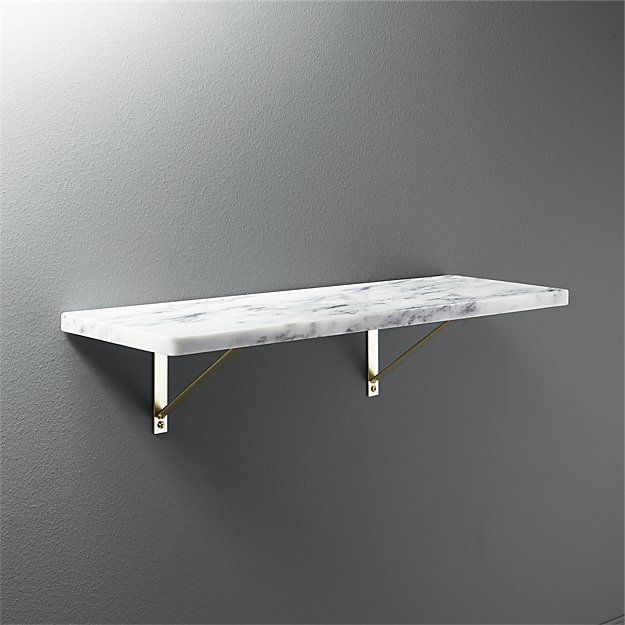 Marble Wall Mounted Shelf 24 Reviews Cb2 Wall Mounted Shelves Marble Shelf Marble Wall