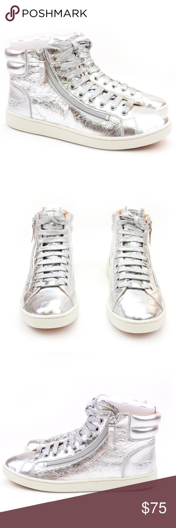 UGG OLIVE Metallic Silver High Top