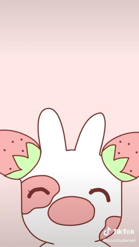 Strawberry Cow Video Cow Wallpaper Cow Drawing Cute Animals